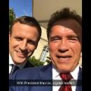 Шварценеггер и Макрон обсудили размеры и потролили Трампа
