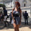 Ольга Романовская оконфузилась из-за короткой юбки