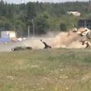 Страшная авария на мотофестивале в Киеве (видео)