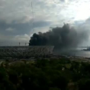 В России горел стадион, строящийся для проведения матчей ЧМ-2018