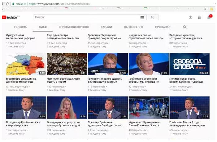 ICTV удалил из YouTube ролик, где журналист критикует Гройсмана (видео)