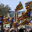 В Барселоне начались массовые митинги за отделение Каталонии