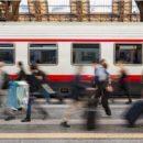 Огромный питон до смерти перепугал пассажиров, забравшись на платформу
