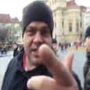 В Праге россияне напали на участников акции в поддержку Украины (видео)