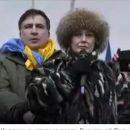 На митинге Саакашвили выступила депутат ЕС, голосовавшая против евроинтеграции Украины