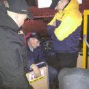 Под Киевом ветераны АТО дали урок вежливости водителю маршрутки (видео)