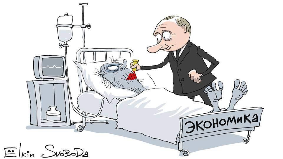 Путин стал героем свежей карикатуры Елкина