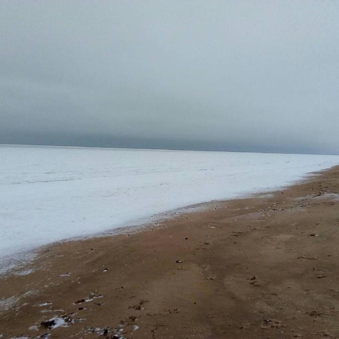 В Украине замерзло Азовское море