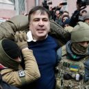 Появились новые кадры жесткого задержания Саакашвили