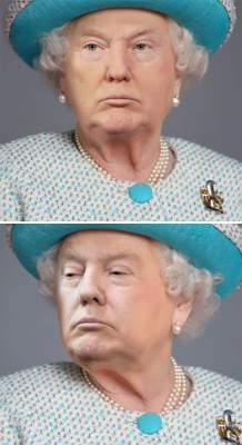 Курьез дня: Трампа «скрестили» с королевой Великобритании