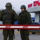 Российские пограничники уничтожили блокпосты на выезде из Крыма