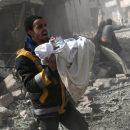 Жуткие кадры последствий бомбардировок мирного населения в Сирии