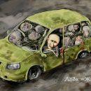 На победу Путина на выборах в Украине ответили карикатурами