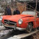 В заброшенном гараже нашли уникальный ретро-автомобиль