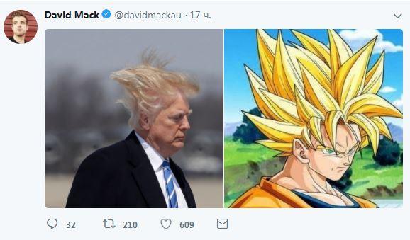«Убегающие» волосы Трампа снова стали хитом соцсетей