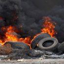 В Черкассах масштабный пожар: горят старые автомобильные покрышки
