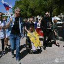 Представительница России на Евровидении пронесла Лиссабоном флаг ДНР (фото)