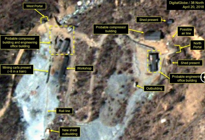 В КНДР сносят ядерный полигон (фото)