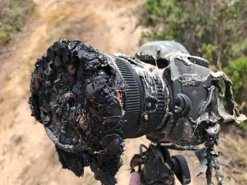 Фотограф слишком близко подошел к месту, откуда стартовала ракета