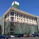 В Киеве снимают занавес с Дома профсоюзов: Опубликованы фото и видео обновленного здания