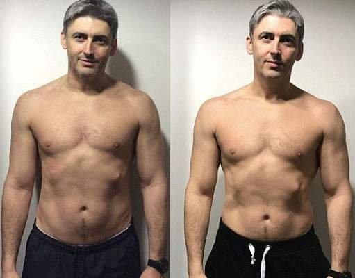45-летний мужчина показал, как меняют тело три месяца в тренажерке (фото)
