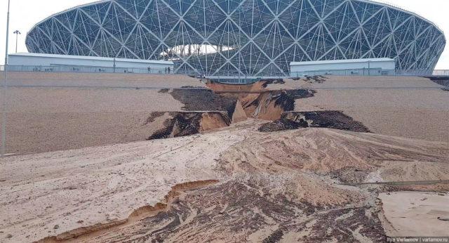 В России стадион рухнул еще до окончания ЧМ-2018