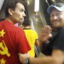 В Киевском метро раздели и декоммунизировали гражданина Словении