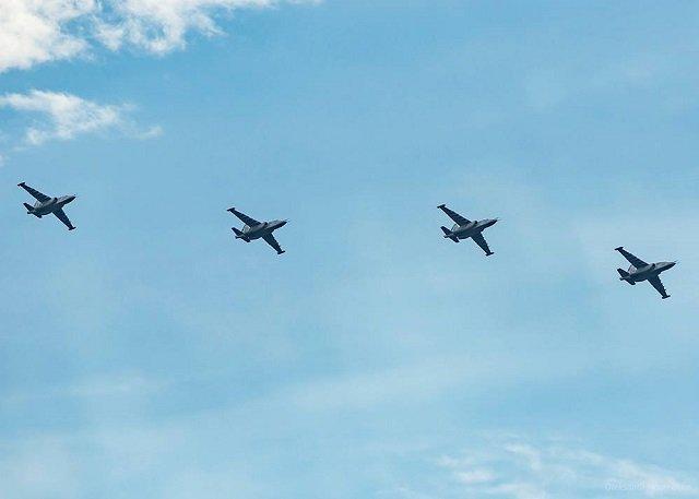Появились фото репетиции воздушного парада ко Дню Независимости Украины