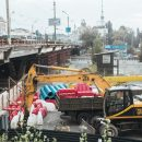 Как в Киеве закрывали Шулявский мост (видео)