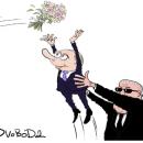 Путина на свадьбе главы МИД Австрии высмеяли меткой карикатурой