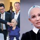 «Домагання» Гройсмана і схожіть з Тимошенко: реакція соцмереж на візит робота Софії в Україну