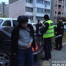 В Киеве грабители сбили двух полицейских и протаранили 10 автомобилей
