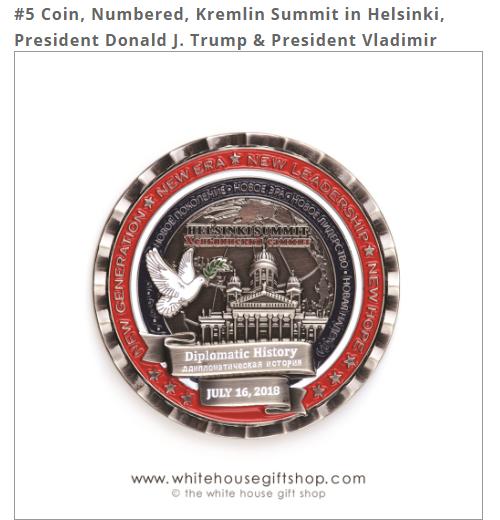В США к саммиту Трампа и Путина выпустили монету с тремя ошибками