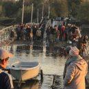 В сети появилось ироничное видео уходящего под воду российского моста