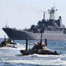 В Сети показали военные корабли Путина. Видео