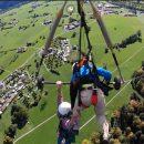 Ужасный полет: Инструктор забыл пристегнуть американца к дельтаплану