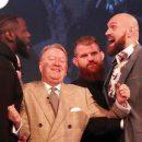 Известные боксеры устроили потасовку на пресс-конференции (видео)