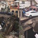 В России рухнул самодельный мост