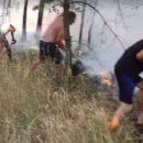 Украинцы спасли польское село от пожара (видео)