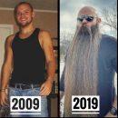 Мужчина не брился 5 лет и отрастил такую бороду, которая принесла ему славу
