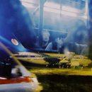 Появилось видео с места крушения белорусского самолета в аэропорту