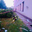 Появилось видео расстрела здания телеканала