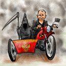 Визит Путина в оккупированный Крым высмеяли в остроумной карикатуре