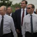 В сети высмеяли двойника Путина с Медведевым