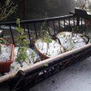 В украинское село в конце августа пришла зима: впечатляющие фото