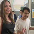 Анджелина Джоли вышла в свет в странном наряде