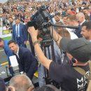 В Днепре Зеленский и Богдан пытались поднять снаряд на Чемпионате по стронгмену, но не смогли