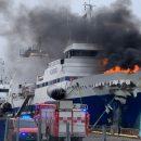 Горящий в Норвегии российский корабль затонул (видео)