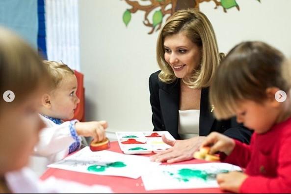 Елена Зеленская очаровала американских детей