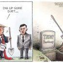 Немного грязи: в США меткими карикатурами показали скандал вокруг Зеленского и Трампа